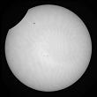 Partial Sun eclipse on 04/01/2011 at 8h25 at 782 nm
