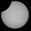 Partial Sun eclipse on 04/01/2011 at 8h26 at 782 nm