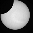 Partial Sun eclipse on 04/01/2011 at 8h27 at 782 nm
