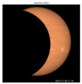 Observations of the solar eclipse realized at the wavelength of 393.37 nm