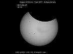 Partial Sun eclipse on 01/08/2011 at 22h10 at 535 nm