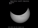 Partial Sun eclipse on 01/08/2011 at 22h07 at 535 nm