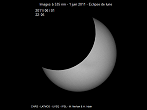 Partial Sun eclipse on 01/08/2011 at 22h05 at 535 nm