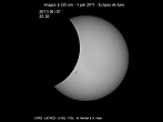 Partial Sun eclipse on 01/08/2011 at 22h02 at 535 nm